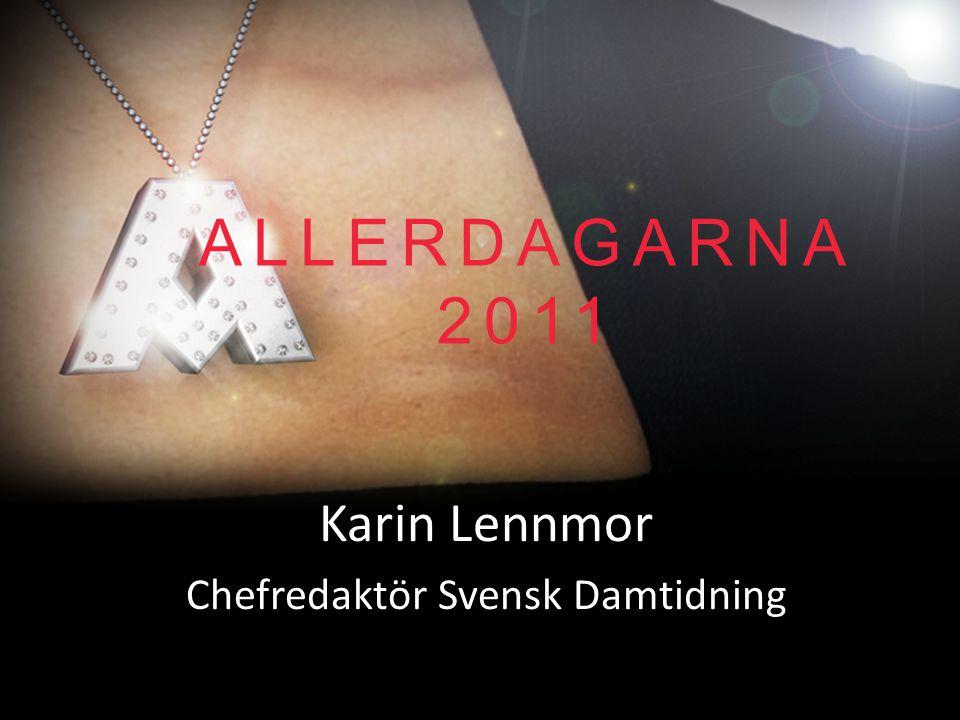 Karin Lennmor Chefredaktör Svensk Damtidning