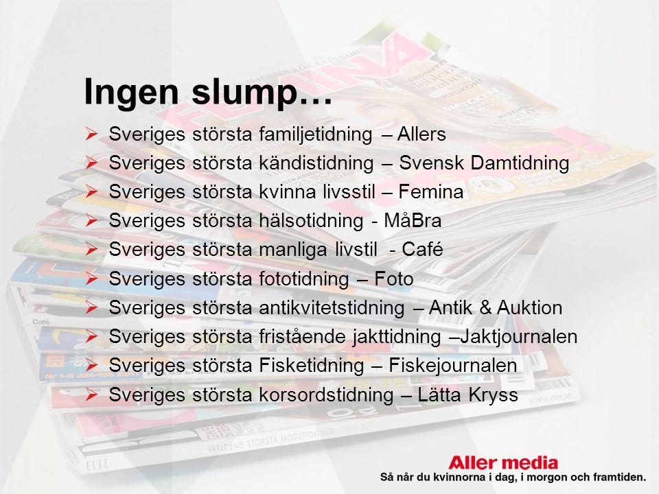 Ingen slump… Sveriges största familjetidning – Allers