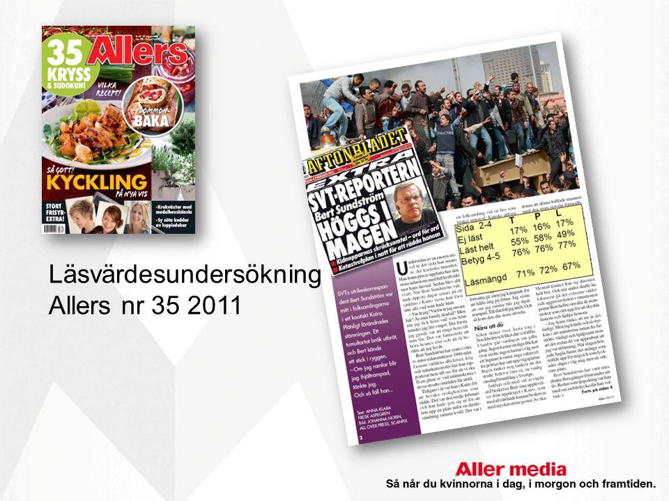 Läsvärdesundersökning Allers nr 35 2011