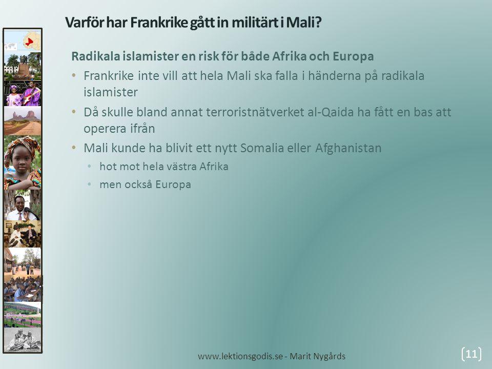 Varför har Frankrike gått in militärt i Mali