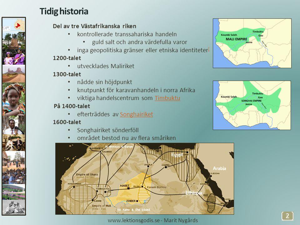 Tidig historia Del av tre Västafrikanska riken
