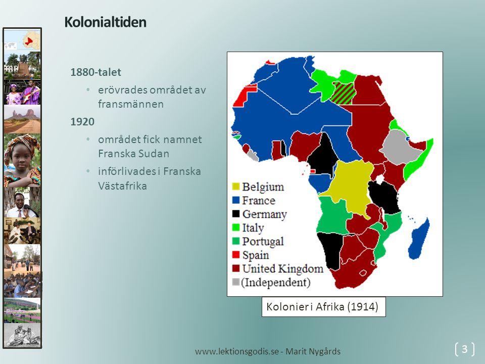 Kolonialtiden 1880-talet erövrades området av fransmännen 1920