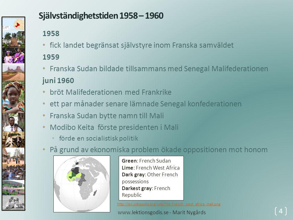 Självständighetstiden 1958 – 1960