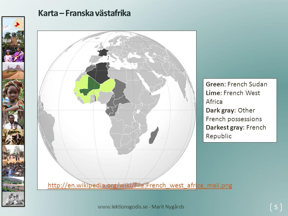 Karta – Franska västafrika