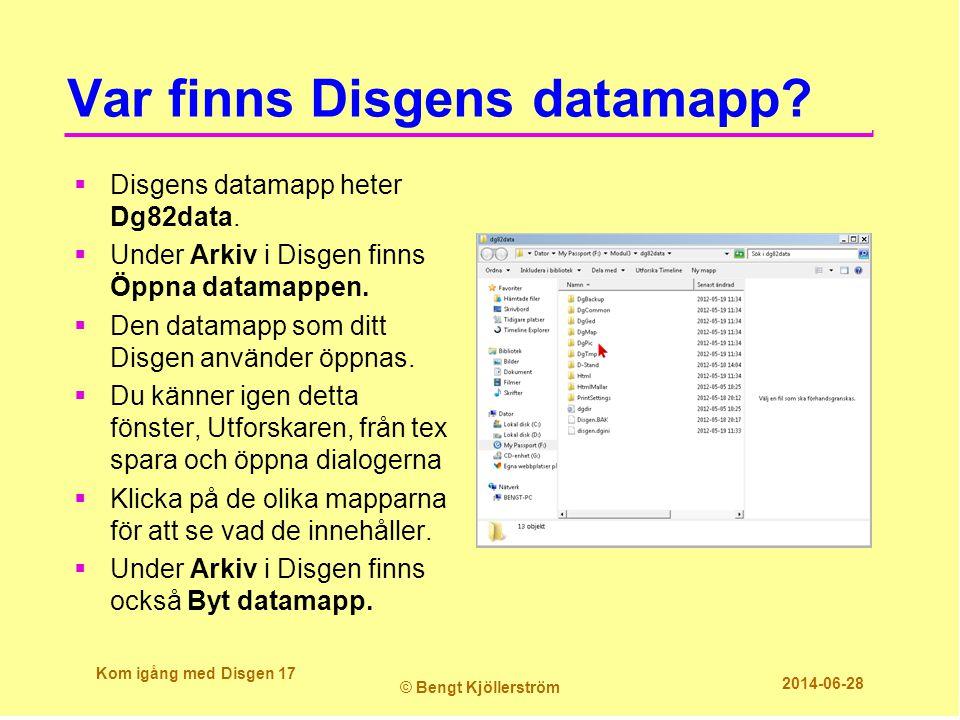 Var finns Disgens datamapp