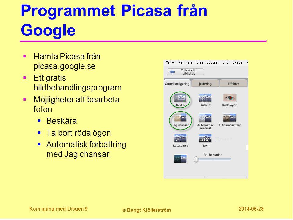 Programmet Picasa från Google