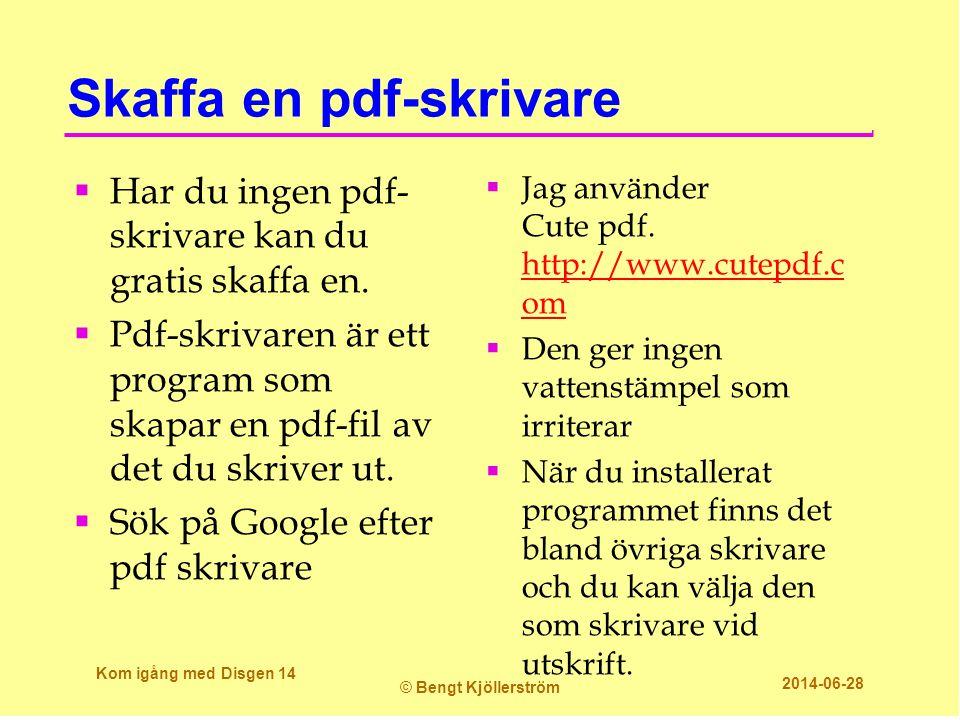 Skaffa en pdf-skrivare