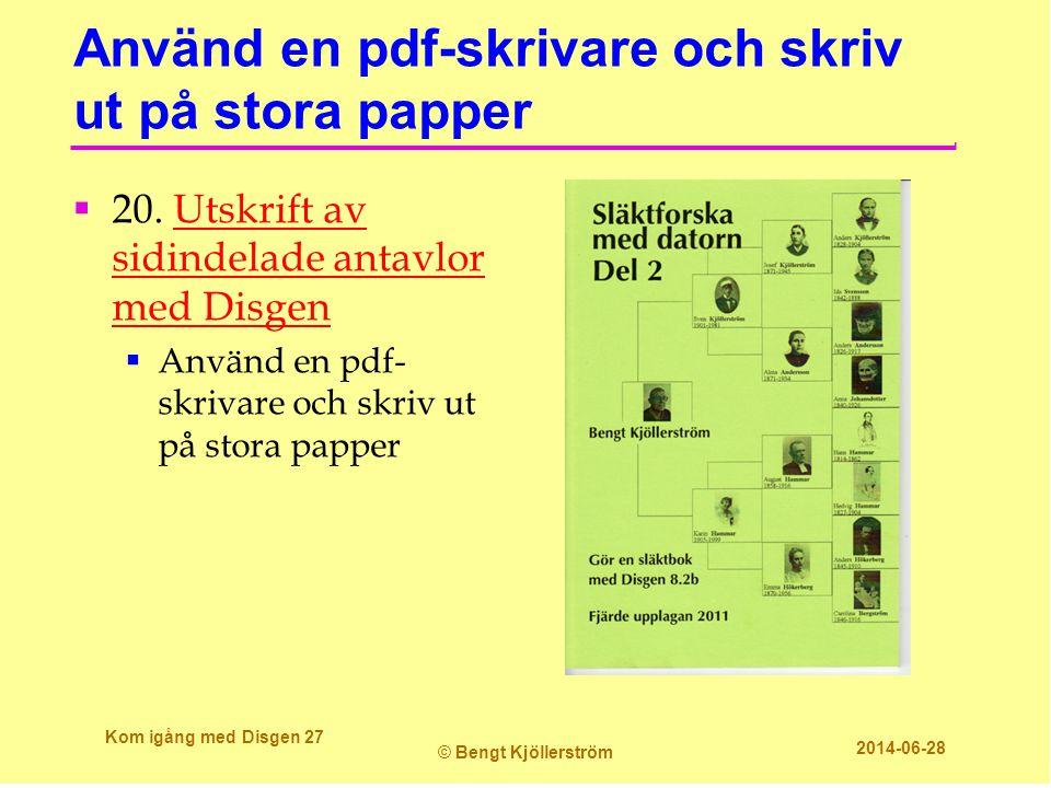 Använd en pdf-skrivare och skriv ut på stora papper