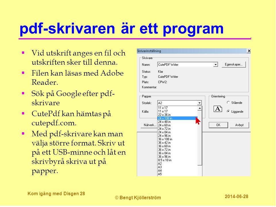 pdf-skrivaren är ett program