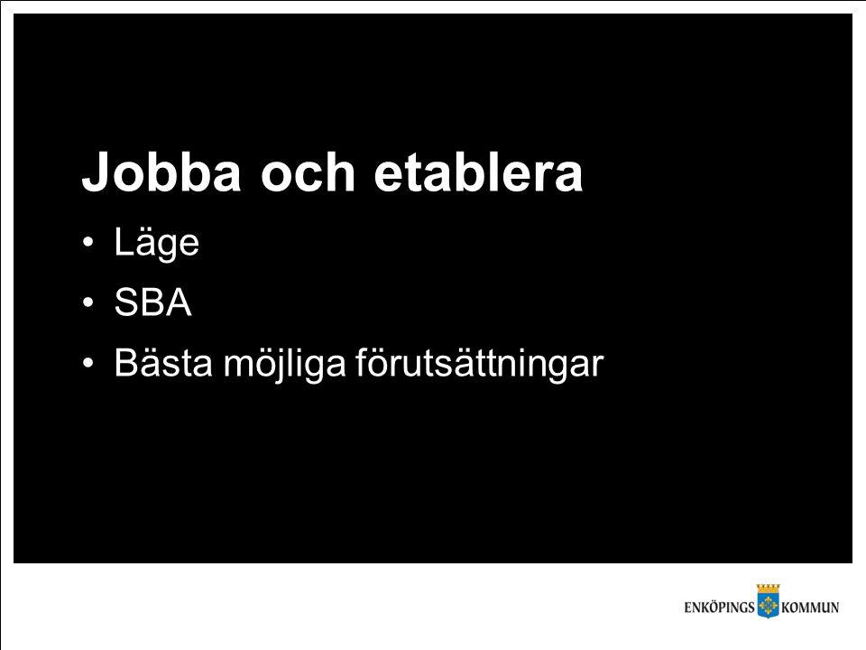Jobba och etablera Läge SBA Bästa möjliga förutsättningar