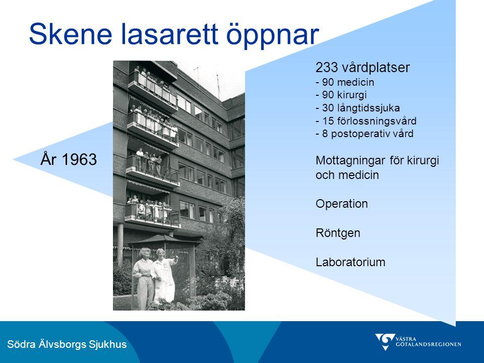 Skene lasarett öppnar År 1963 233 vårdplatser