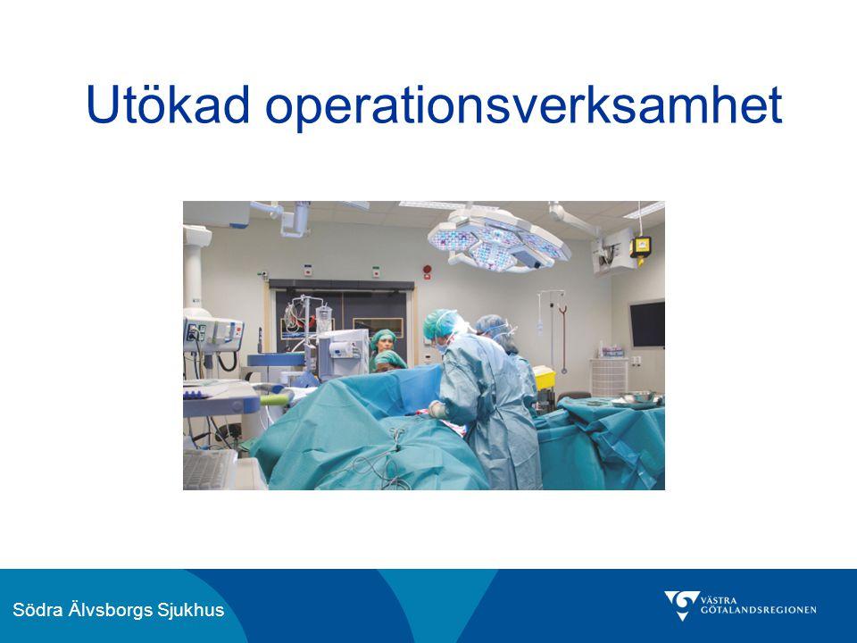 Utökad operationsverksamhet