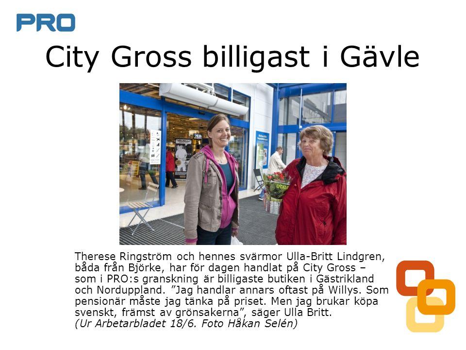 City Gross billigast i Gävle