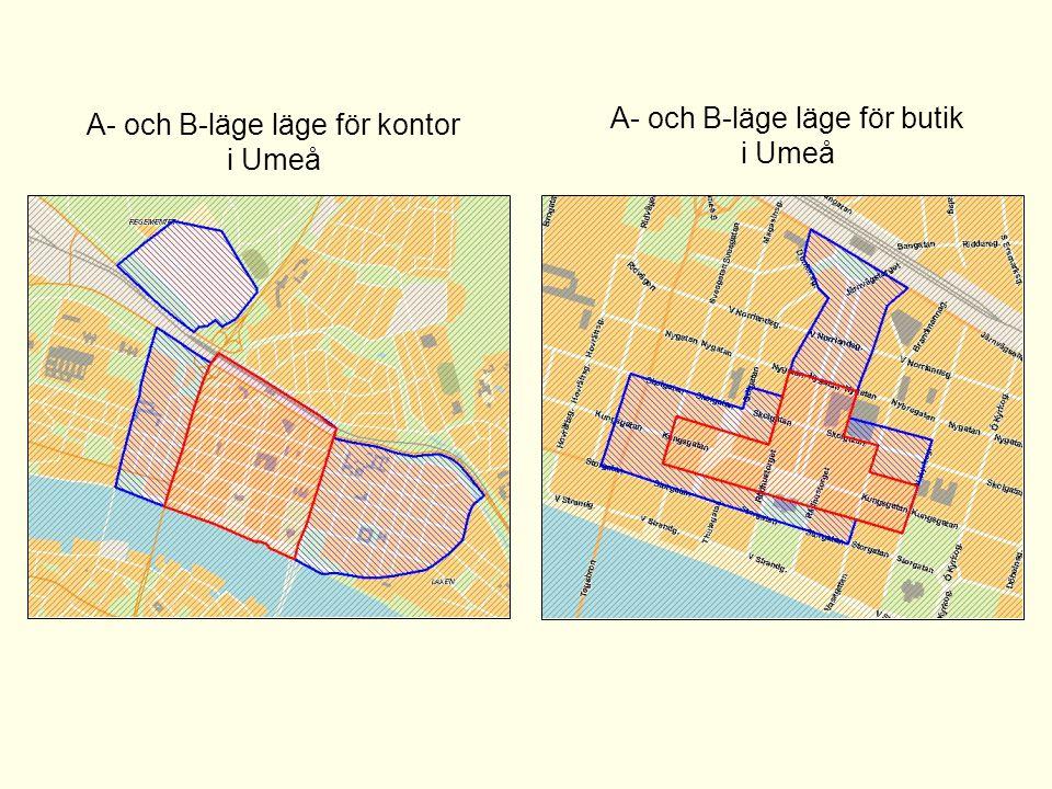 A- och B-läge läge för kontor i Umeå