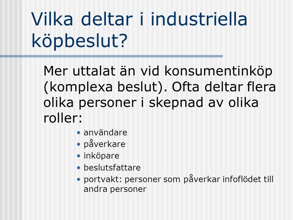 Vilka deltar i industriella köpbeslut