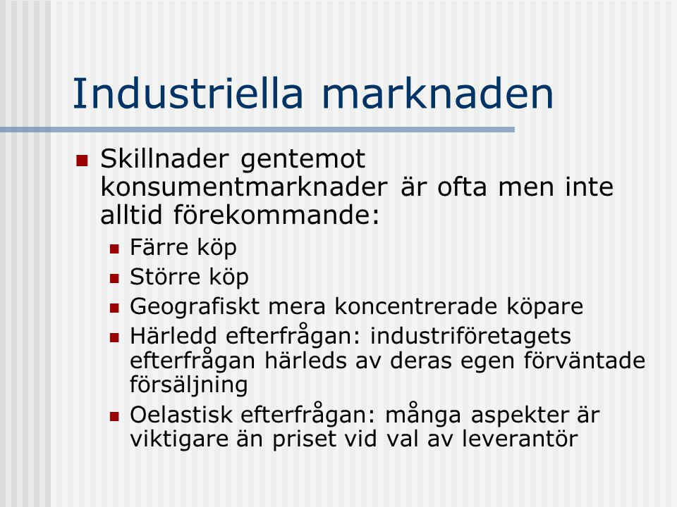 Industriella marknaden
