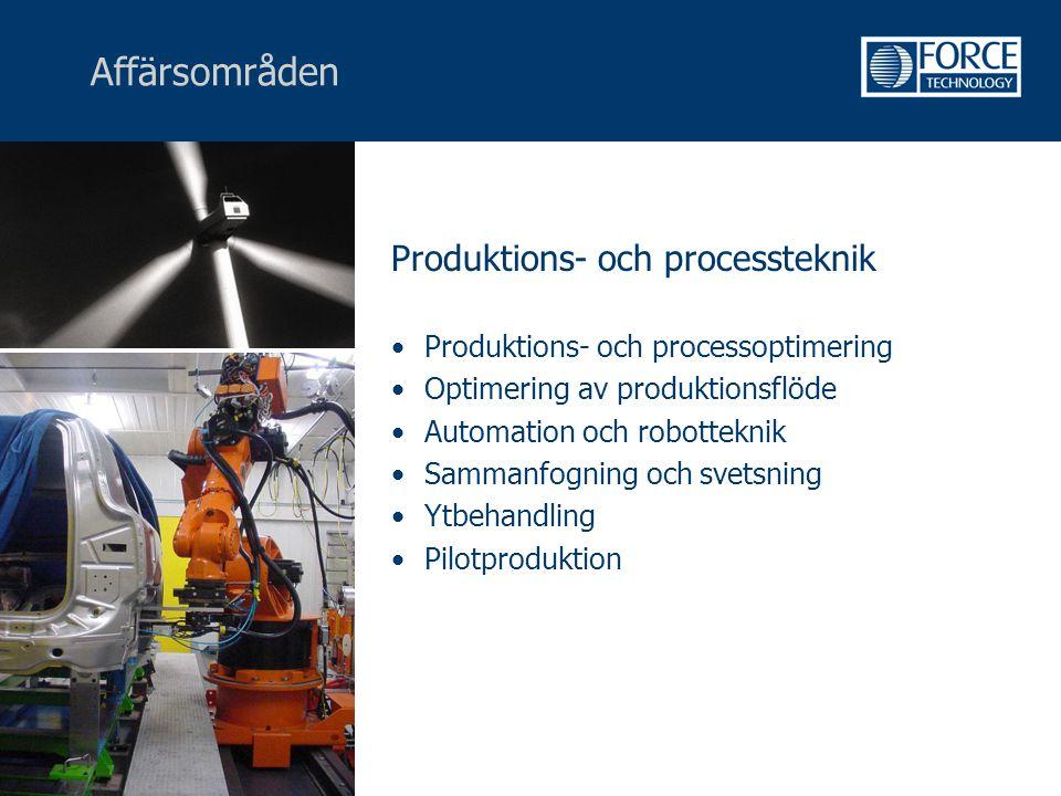 Affärsområden Produktions- och processteknik