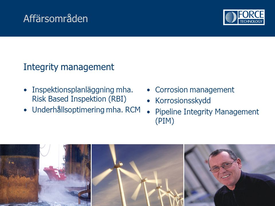 Affärsområden Integrity management