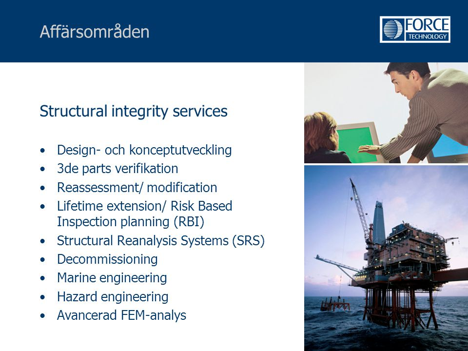 Affärsområden Structural integrity services