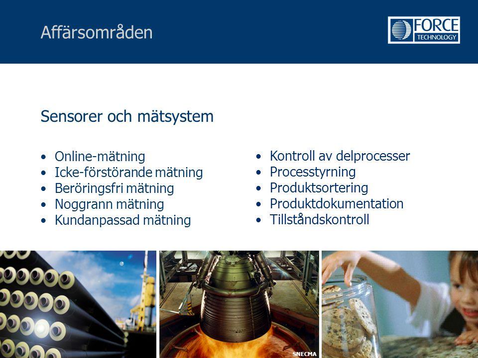 Affärsområden Sensorer och mätsystem Online-mätning