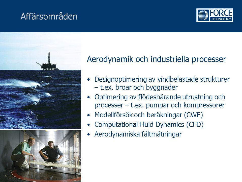 Affärsområden Aerodynamik och industriella processer