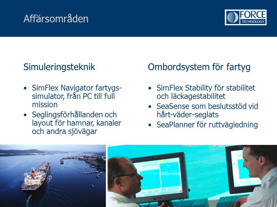 Affärsområden Simuleringsteknik Ombordsystem för fartyg