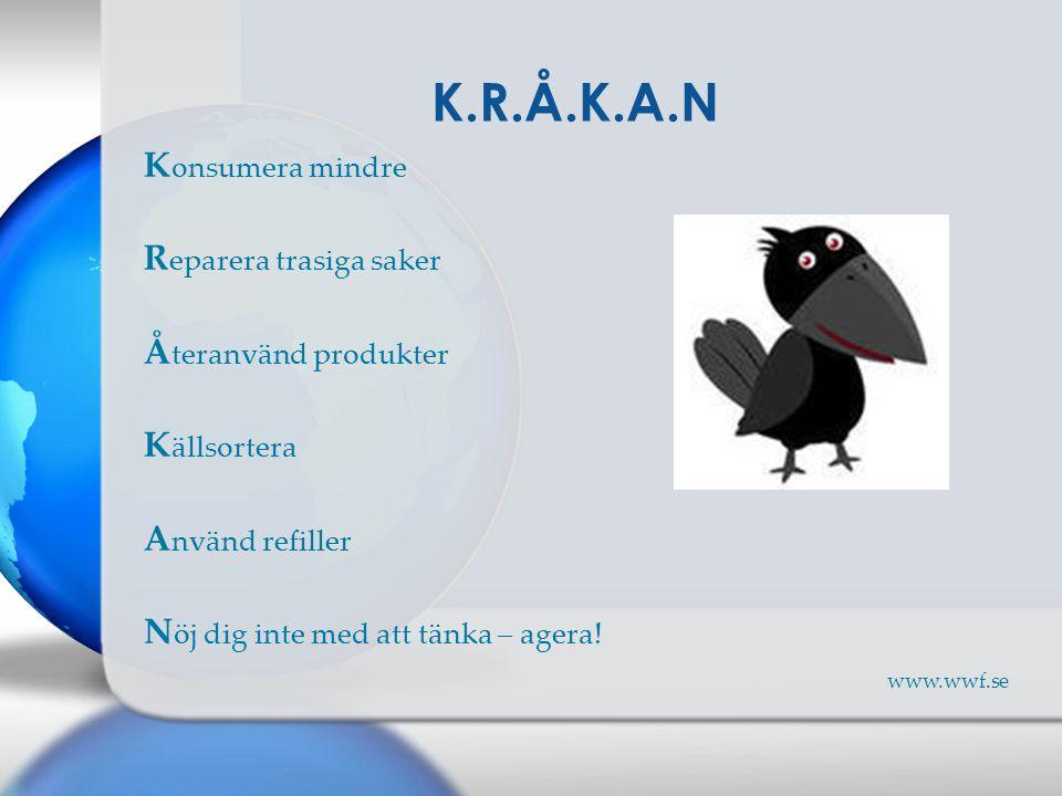 K.R.Å.K.A.N Konsumera mindre Reparera trasiga saker