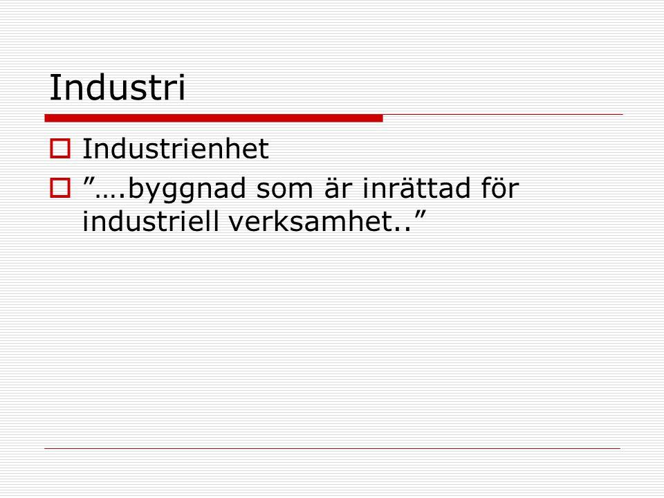 Industri Industrienhet
