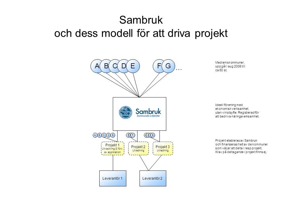 Sambruk och dess modell för att driva projekt