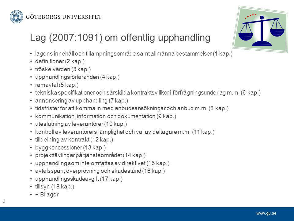 Lag (2007:1091) om offentlig upphandling