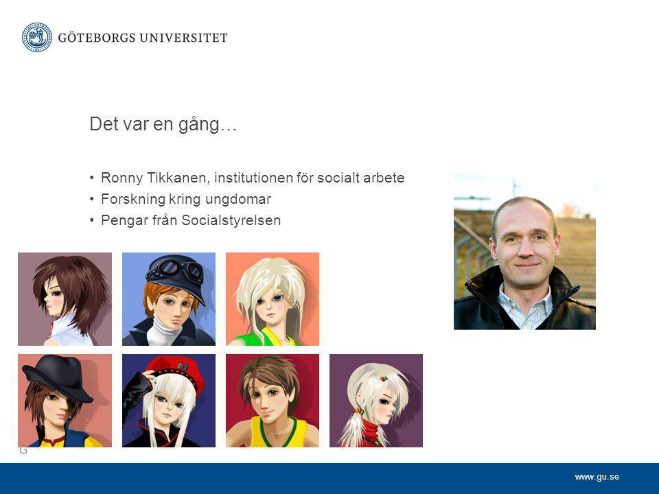 Det var en gång… Ronny Tikkanen, institutionen för socialt arbete