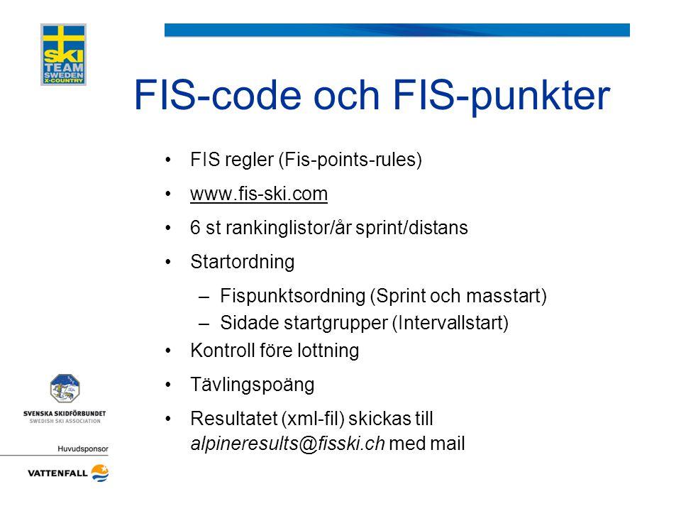 FIS-code och FIS-punkter