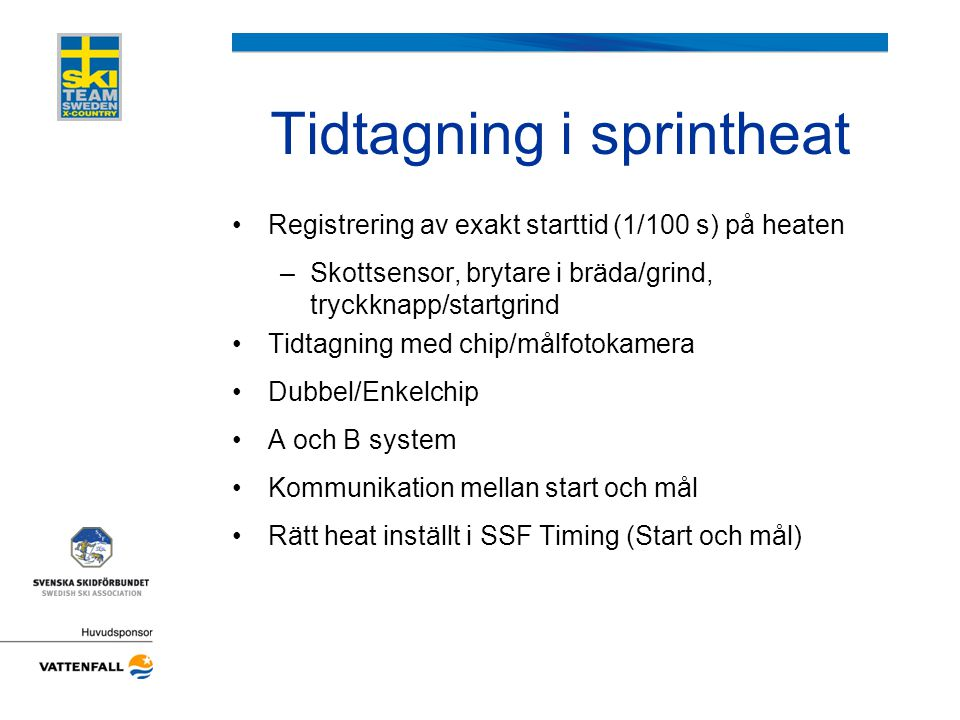 Tidtagning i sprintheat