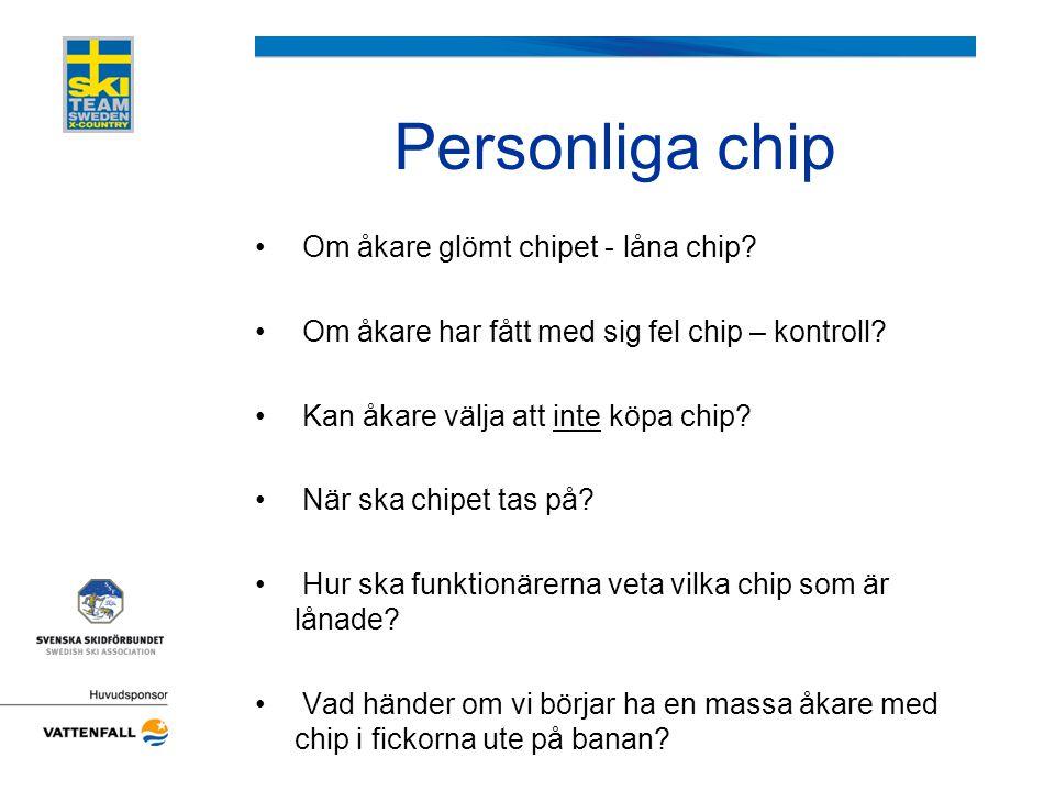 Personliga chip Om åkare glömt chipet - låna chip