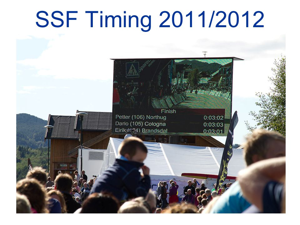 SSF Timing 2011/2012