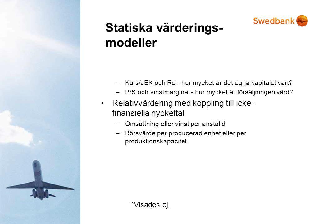 Statiska värderings- modeller