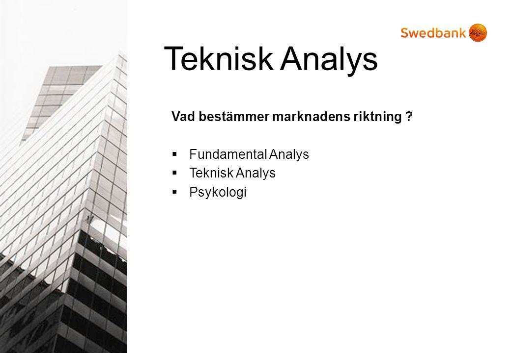 Teknisk Analys Vad bestämmer marknadens riktning Fundamental Analys