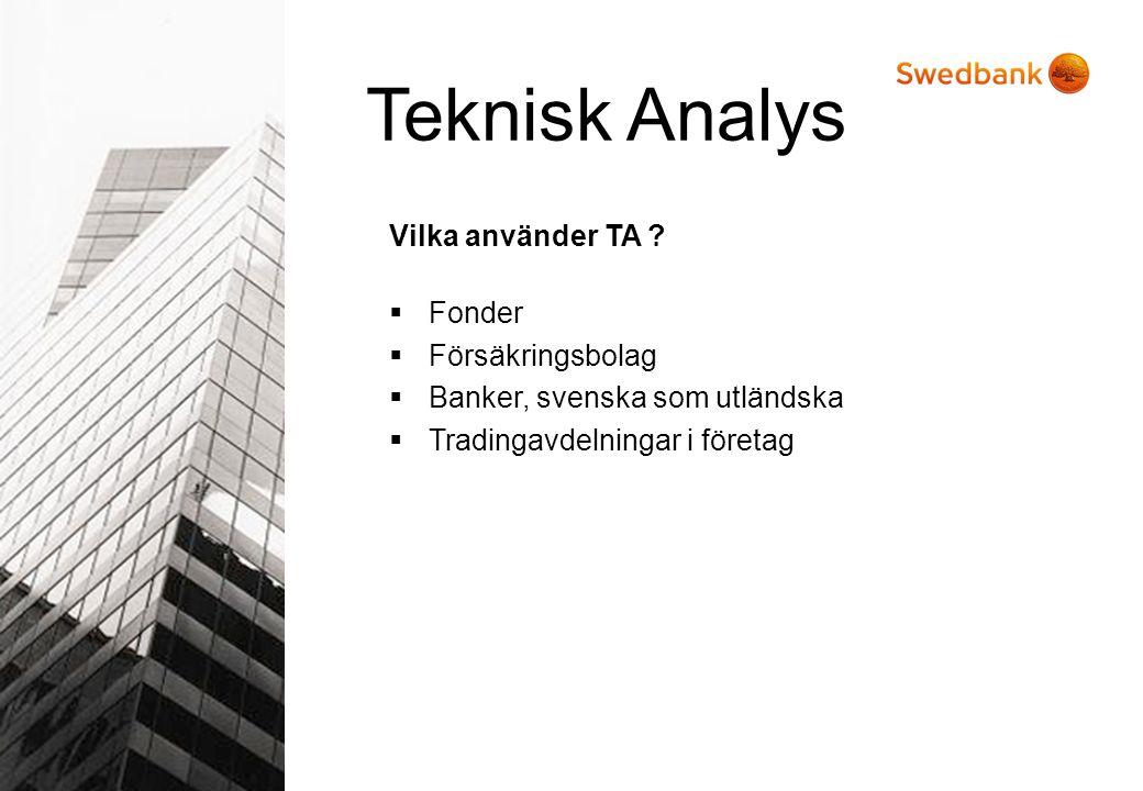 Teknisk Analys Vilka använder TA Fonder Försäkringsbolag