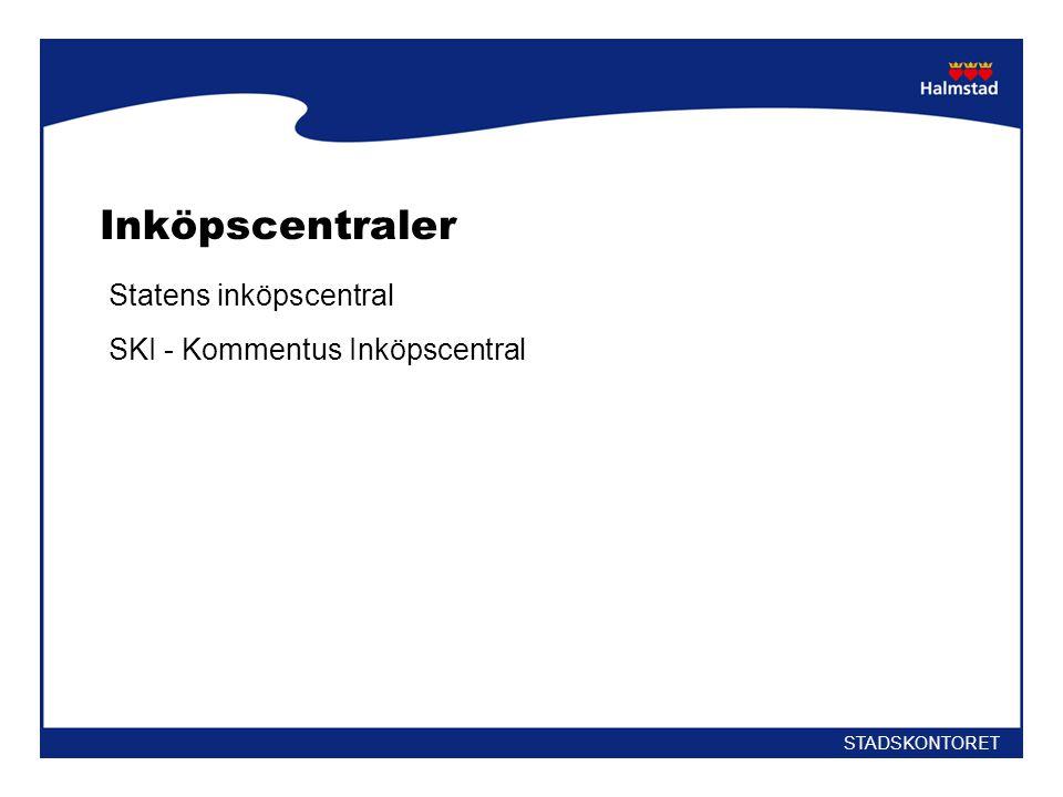 Inköpscentraler Statens inköpscentral SKI - Kommentus Inköpscentral
