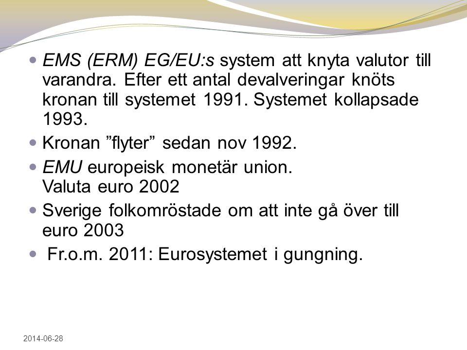 Kronan flyter sedan nov 1992.