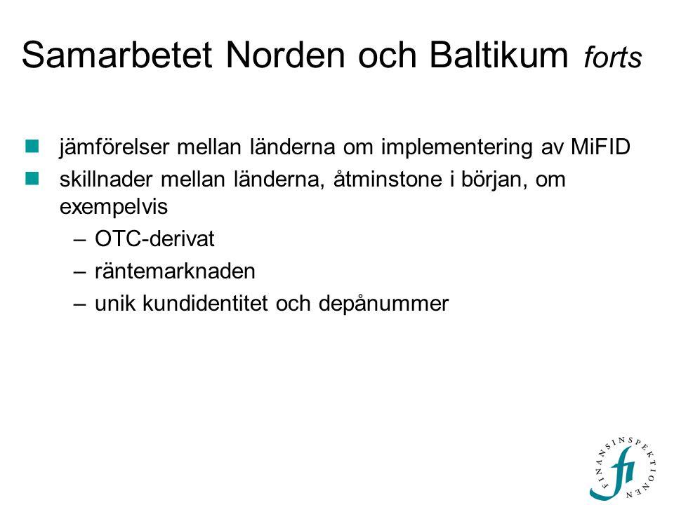 Samarbetet Norden och Baltikum forts