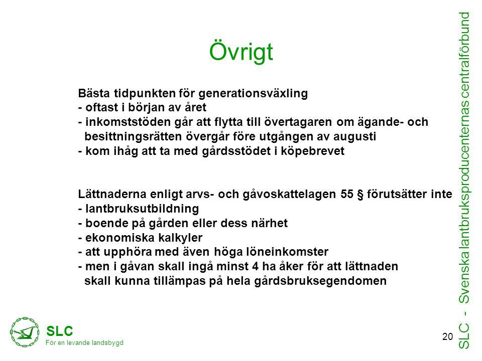 SLC - Svenska lantbruksproducenternas centralförbund