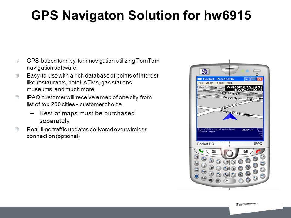 GPS Navigaton Solution for hw6915