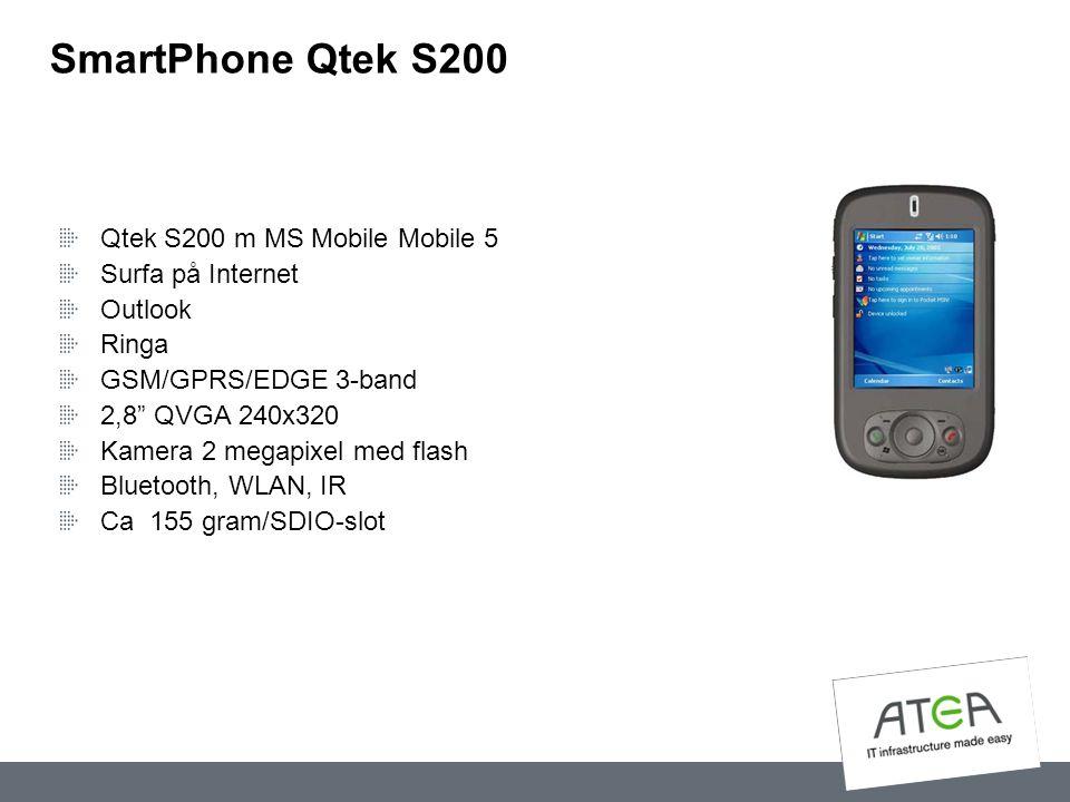 SmartPhone Qtek S200 Qtek S200 m MS Mobile Mobile 5 Surfa på Internet