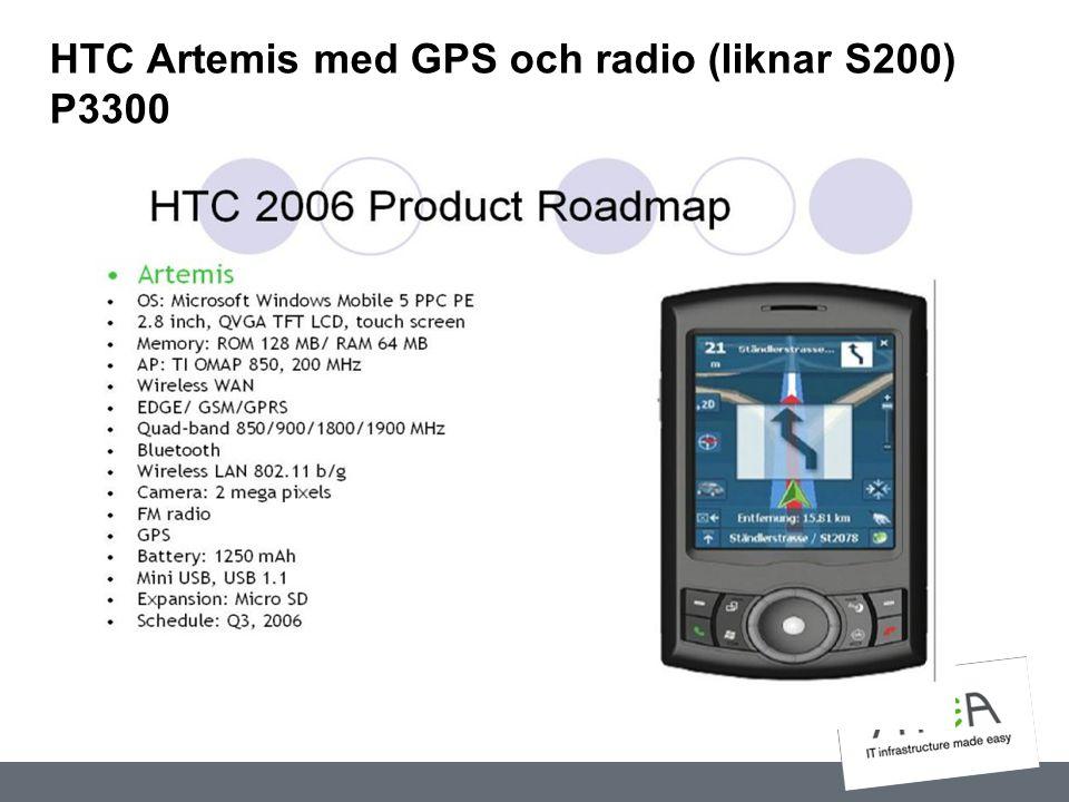 HTC Artemis med GPS och radio (liknar S200) P3300