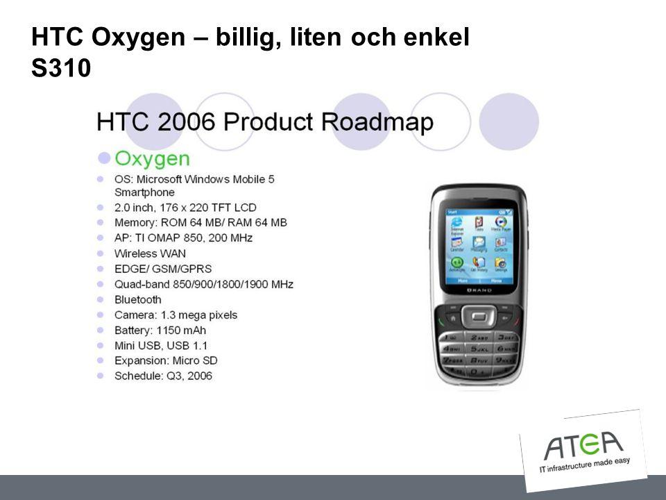 HTC Oxygen – billig, liten och enkel S310