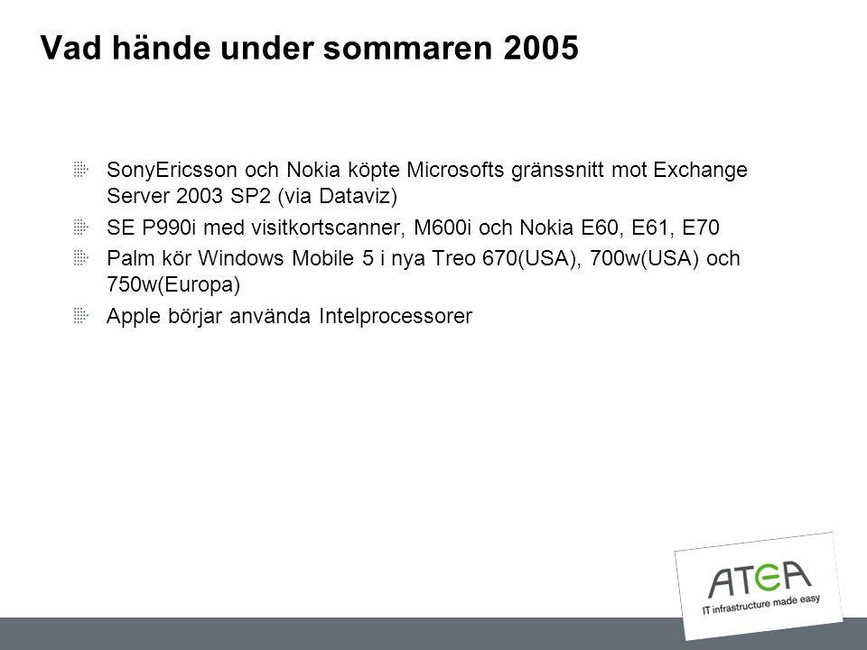 Vad hände under sommaren 2005