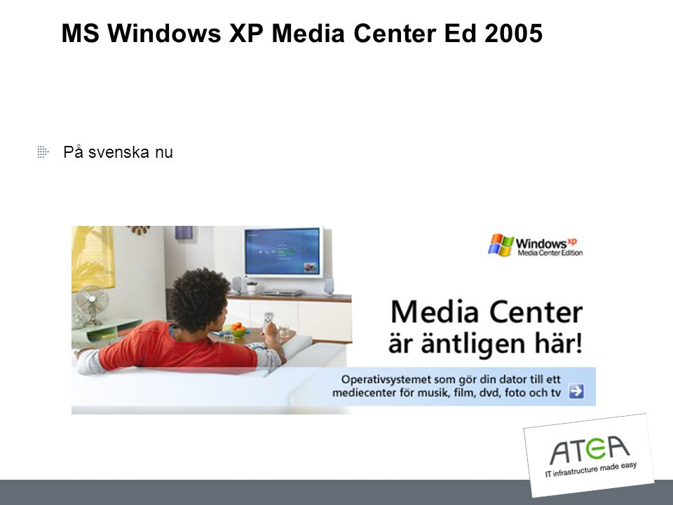 MS Windows XP Media Center Ed 2005