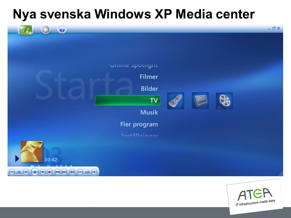Nya svenska Windows XP Media center