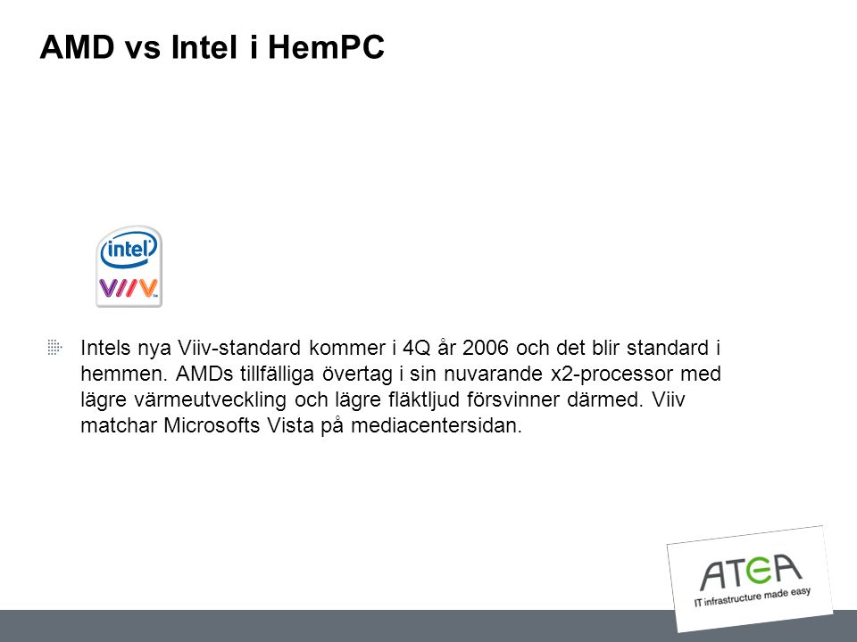 AMD vs Intel i HemPC